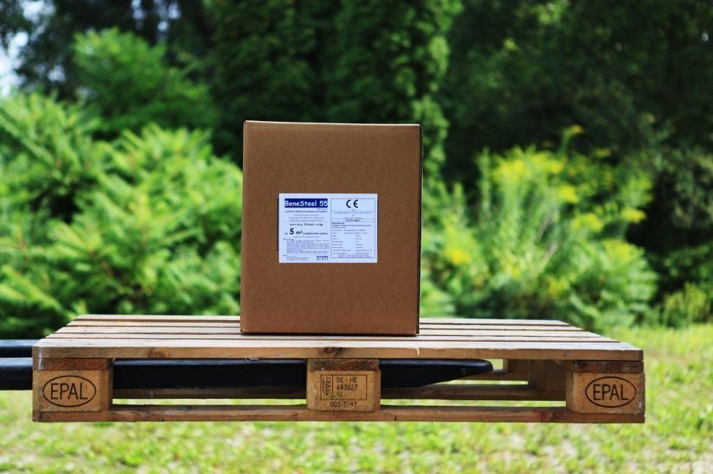 BeneSteel 55 - polymerová makrovlákna délky 55 mm se statickým účinkem